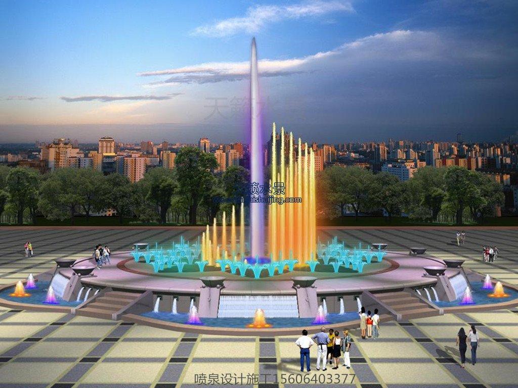 济南喷泉设计公司-广场音乐喷泉设计效果图